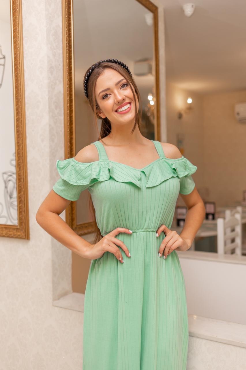Vestido Maria Eduarda  verde