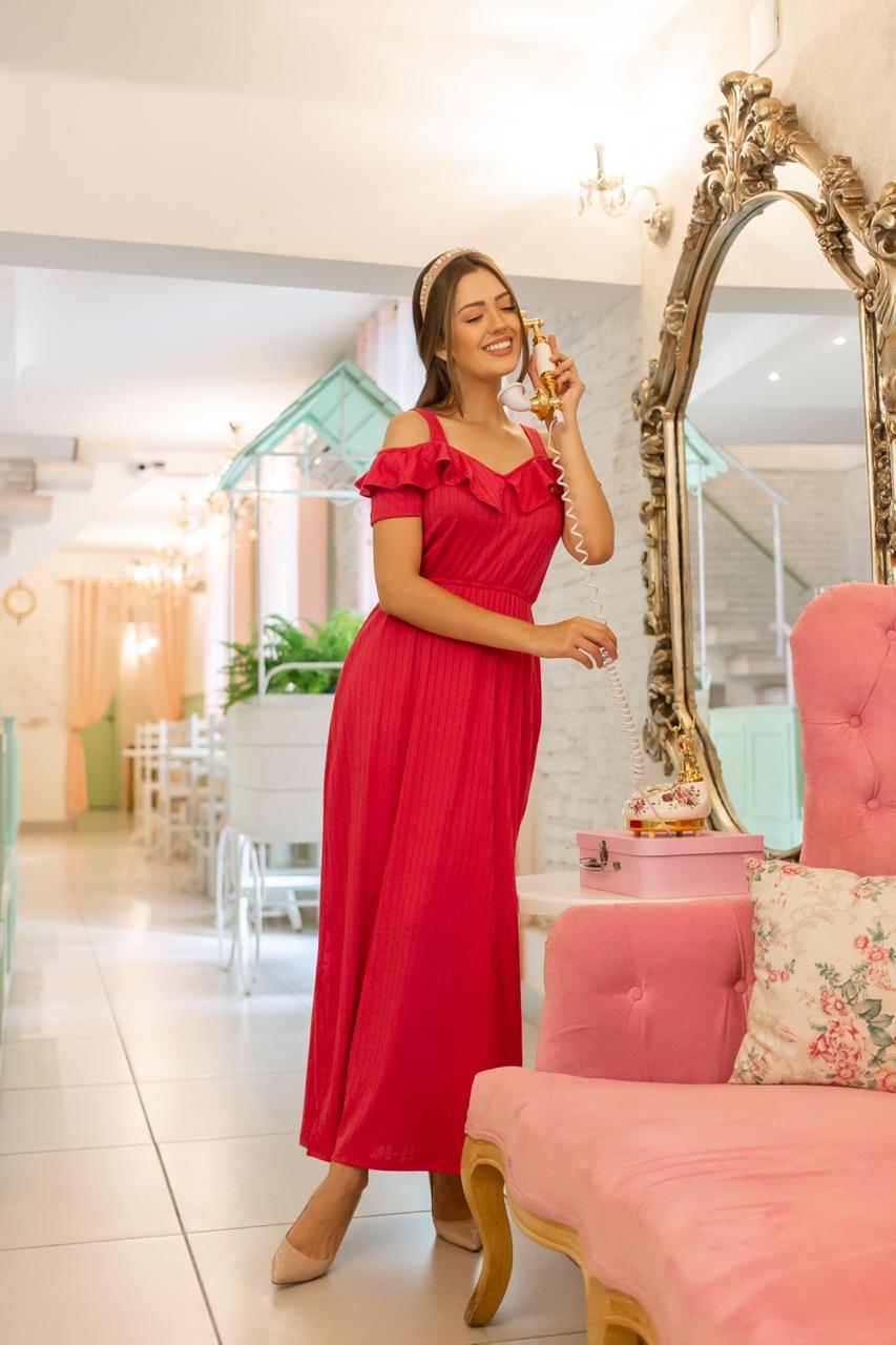 Vestido Maria Eduarda vermelho