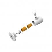 KIT Canhão e Válvula Veico de Hidromassagem Plug 50mm