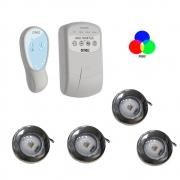Kit CONTROL. LOGICO PROGRAMAVEL PDX1299N-90240VCA - P720 + 4 Refletores Tholz 6W RGB Premium