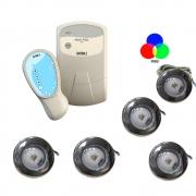 Kit CONTROL. LOGICO PROGRAMAVEL PDX1299N-90240VCA - P720 + 5 Refletor Tholz 6W RGB Premium (03.017.00411 e 03.030.01112)