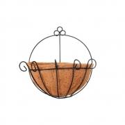 Meio Vaso 25cm de Parede com Fibra de Coco