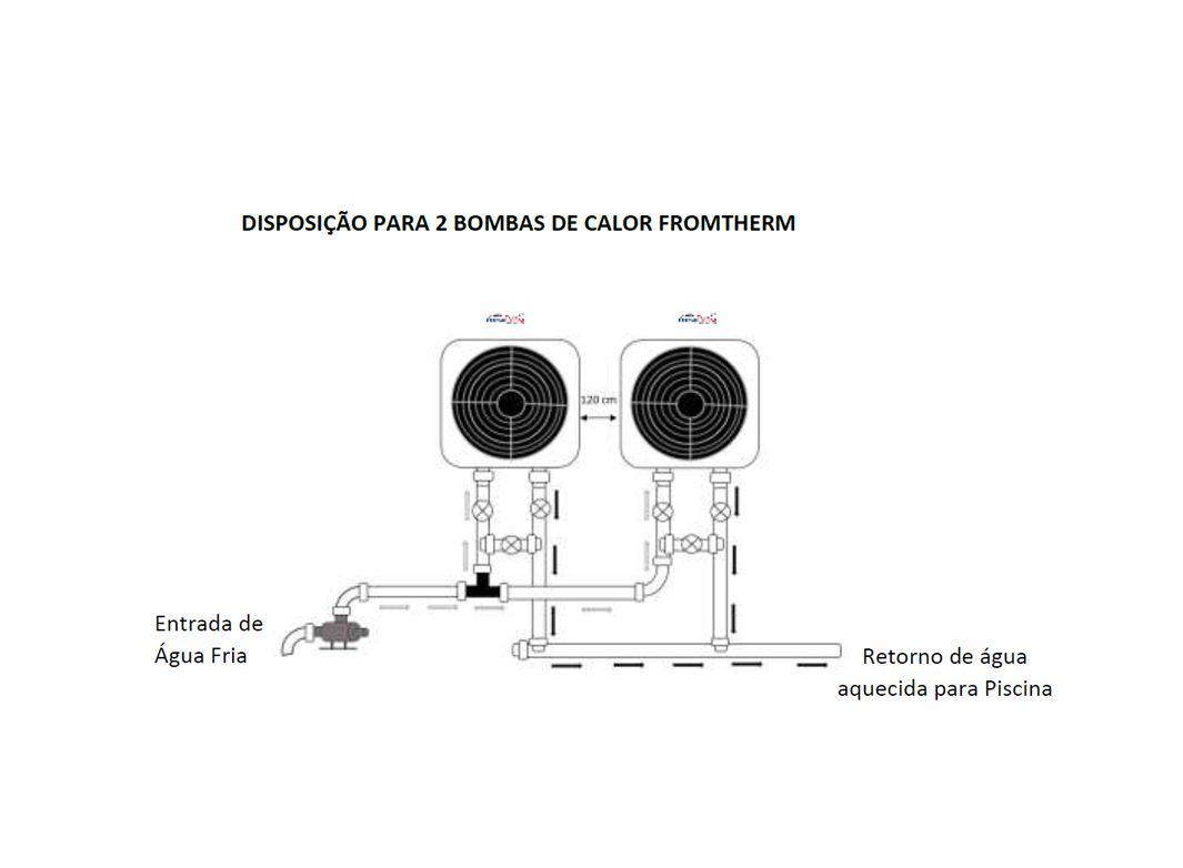 Aquecedor De Piscina - Fromtherm Ft120 p/ 120 Mil L. 220V Trif