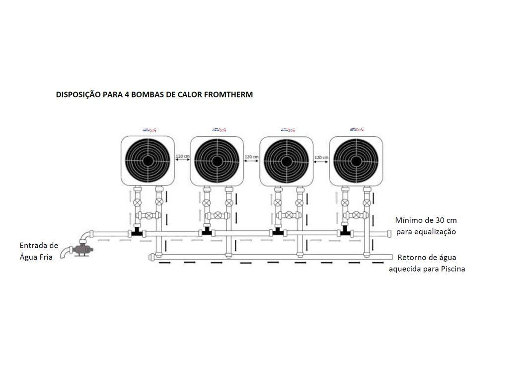 Aquecedor De Piscina - Fromtherm Ft80 p/ 80 Mil L. 220V Trif