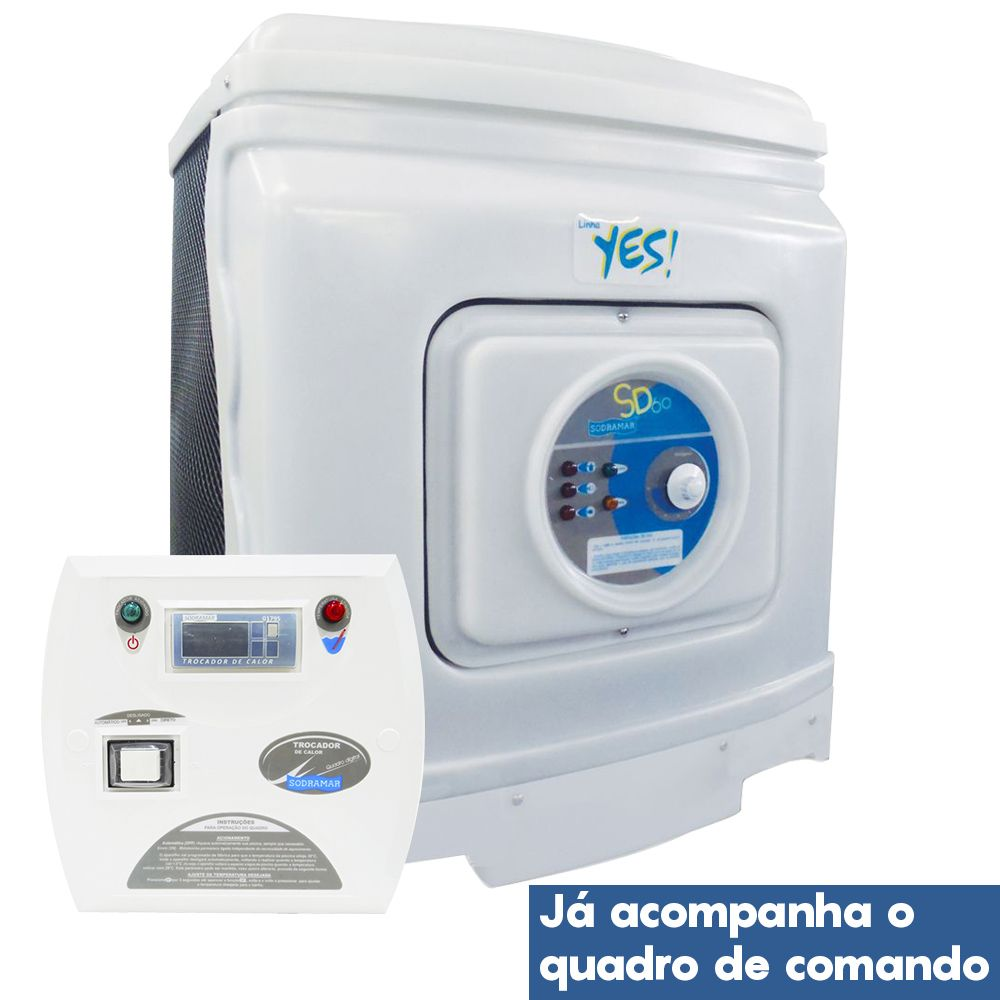 Aquecedor de Piscina Yes - Trocador de Calor SD-25 - 220 V - Bifásico