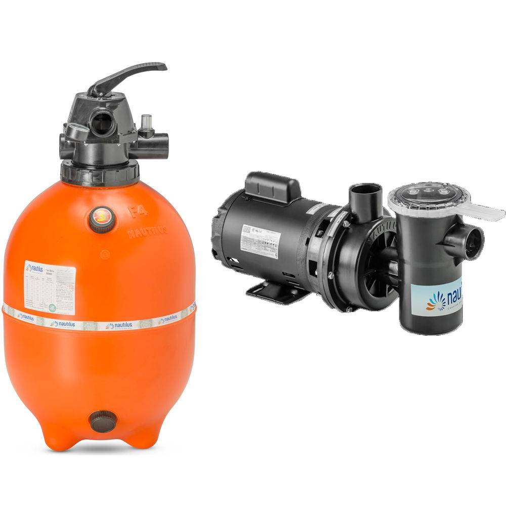 Conjunto Nautilus Piscina F450P C/ Bomba NBFC-2 1/2 CV 110/220 V Monofásica