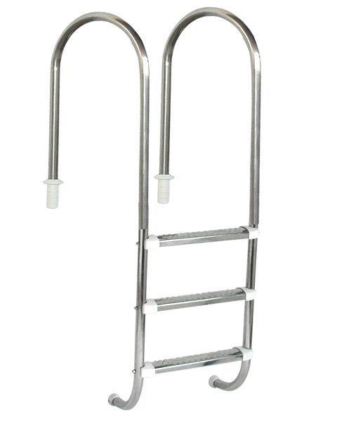 Escada Marinheiro 1 1/2'' Aço Inox 3 D. Anatômicos em Inox - Sodramar