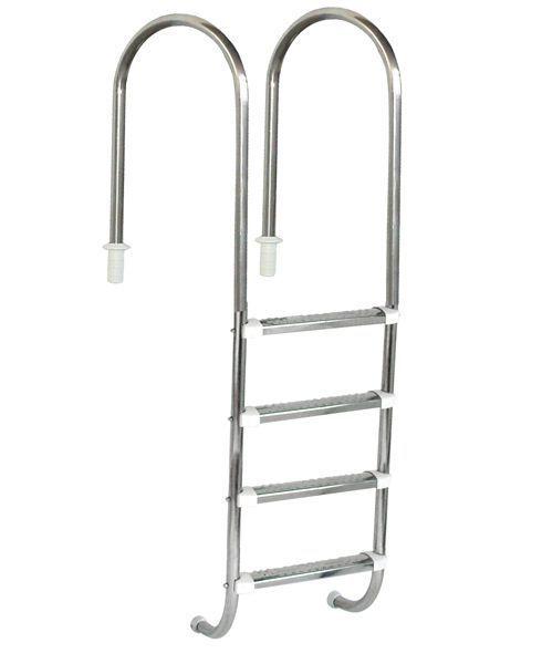 Escada Marinheiro 1 1/2'' Aço Inox 4 D. Anatômicos em Inox - Sodramar