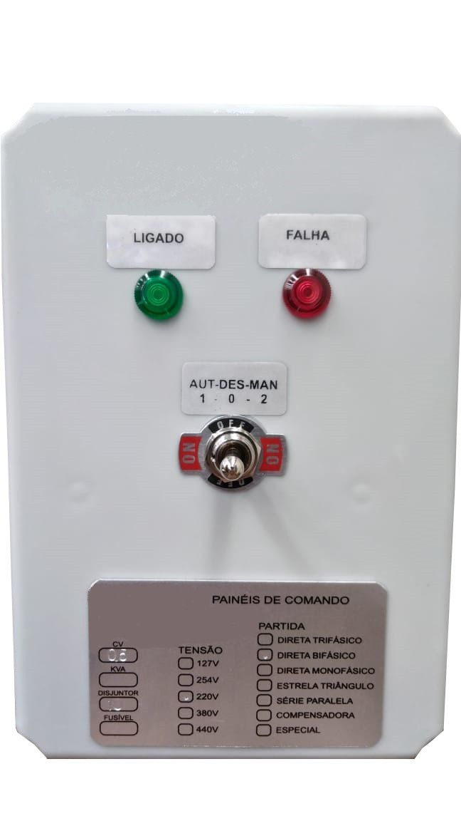 Painel de Comando p/ Piscina Termoplástica  0,5CV Trif. 220V