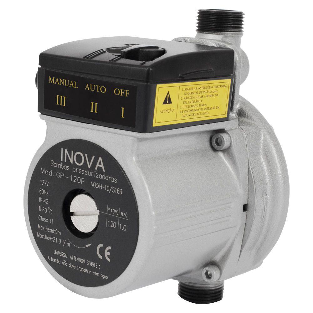 Pressurizador Inova C/ Fluxostato GP-120 PPB (Ferro) 1/6 CV 220V Mono