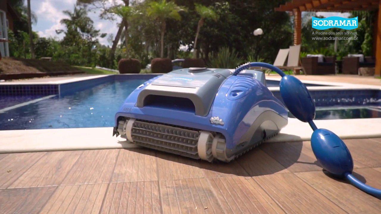 Robô Rb6 Sodramar para limpeza de piscinas de até 12m