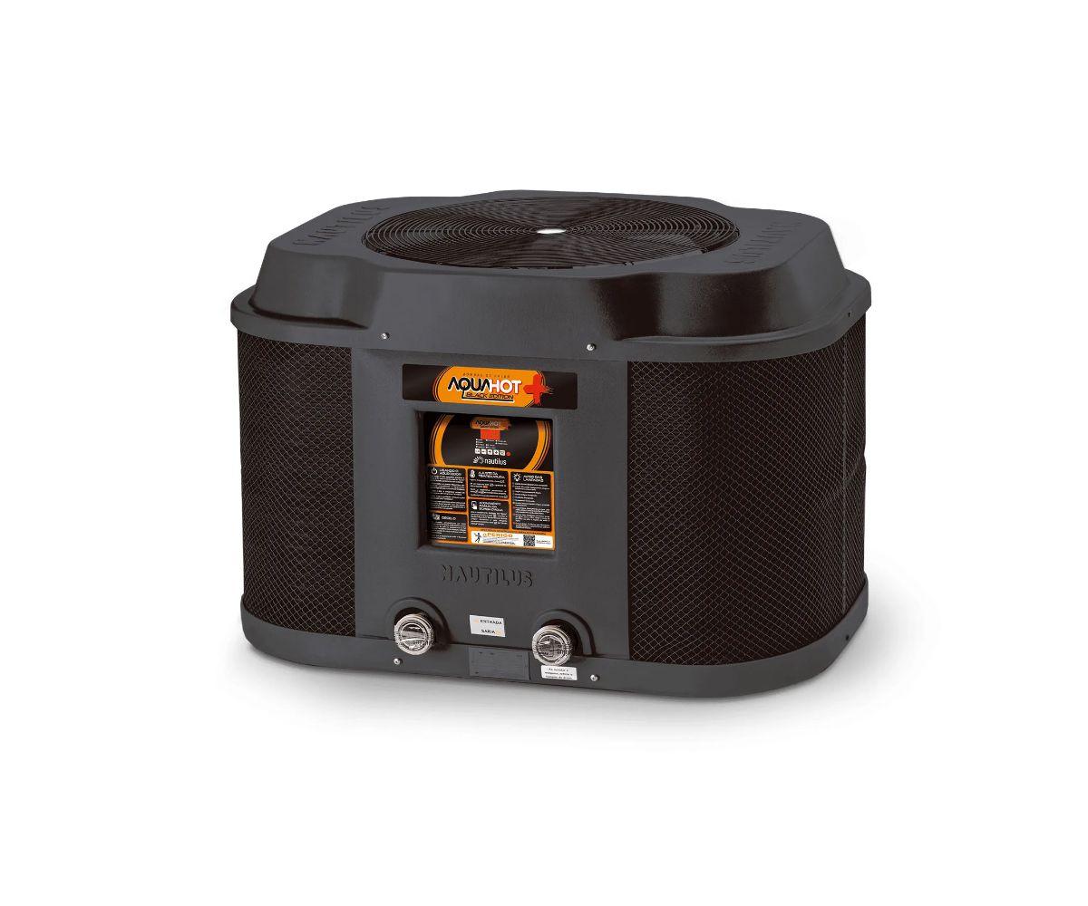 Trocador de calor Nautilus p/ piscina AA-145 Aquahot Black Edition 220V Trif