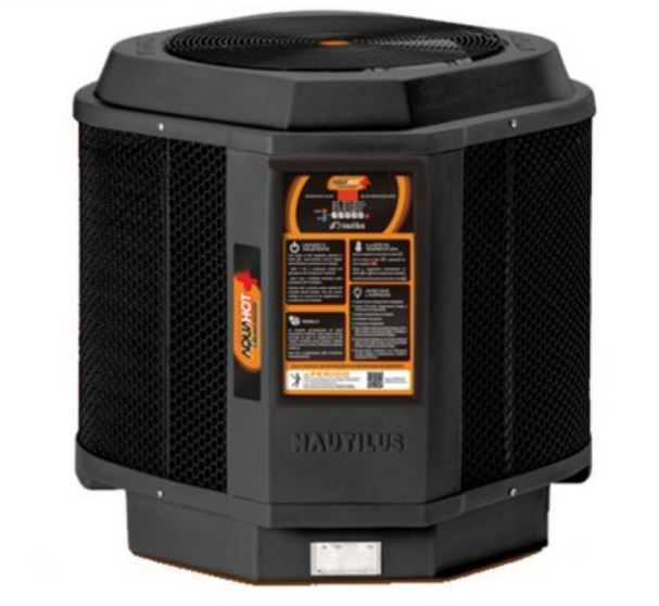 Trocador de calor Nautilus p/ piscina AA-85 Aquahot Black Edition 220V Trif
