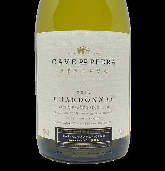 Cave de Pedra Chardonnay 2017 750ML  - Vinícola Cave de Pedra