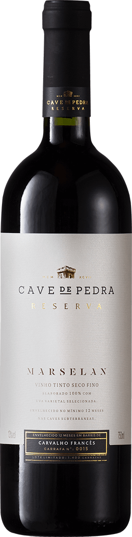 Cave de Pedra Marselan 2018 750ML  - Vinícola Cave de Pedra