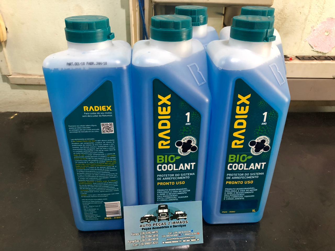 Aditivo Radiex Radiador Bio Coolant Azul Pronto Uso Organico
