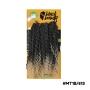 Cabelo Bio Fibra Jade Crochet Braids - Black Beauty