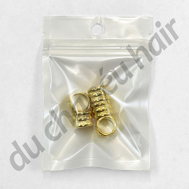 Anel para dread dourado  c/5 pçs