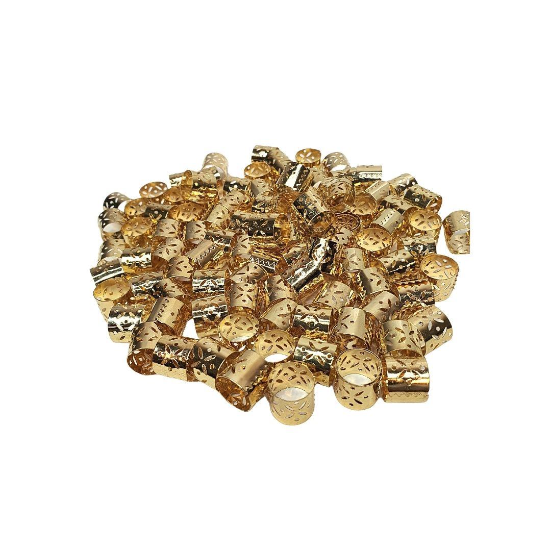 Anel Para Dreads, Braids Dourado(pacote c/100pçs)