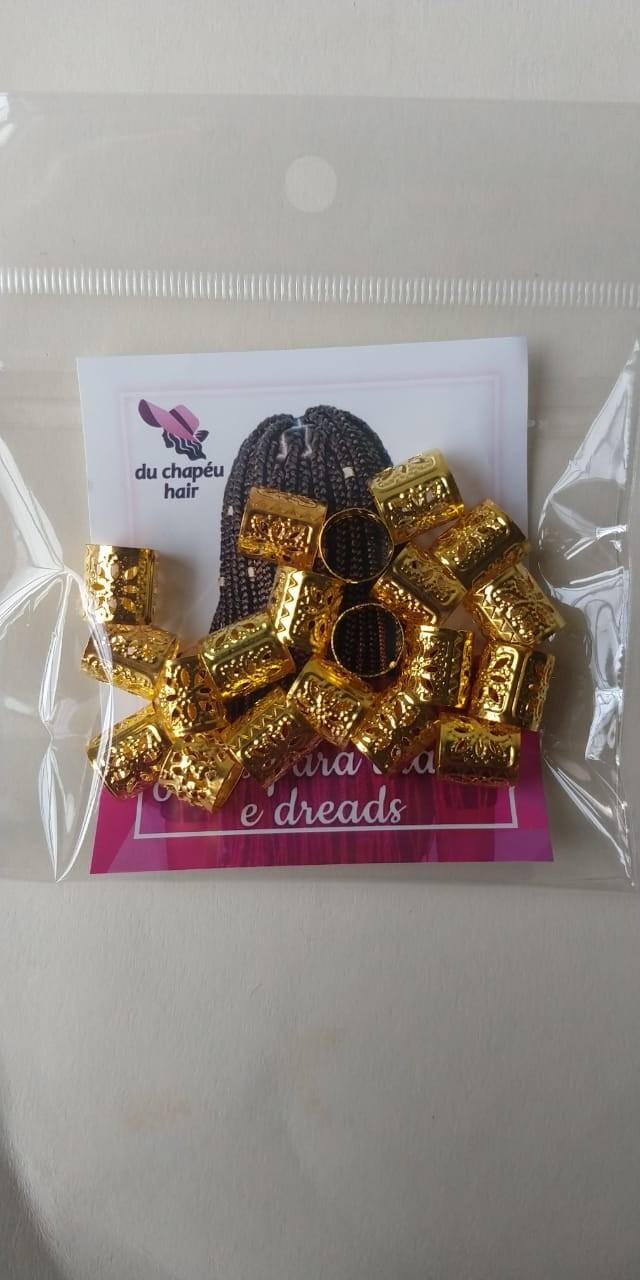 Anel Para Dreads, Braids Dourado(pacote c/20pçs)