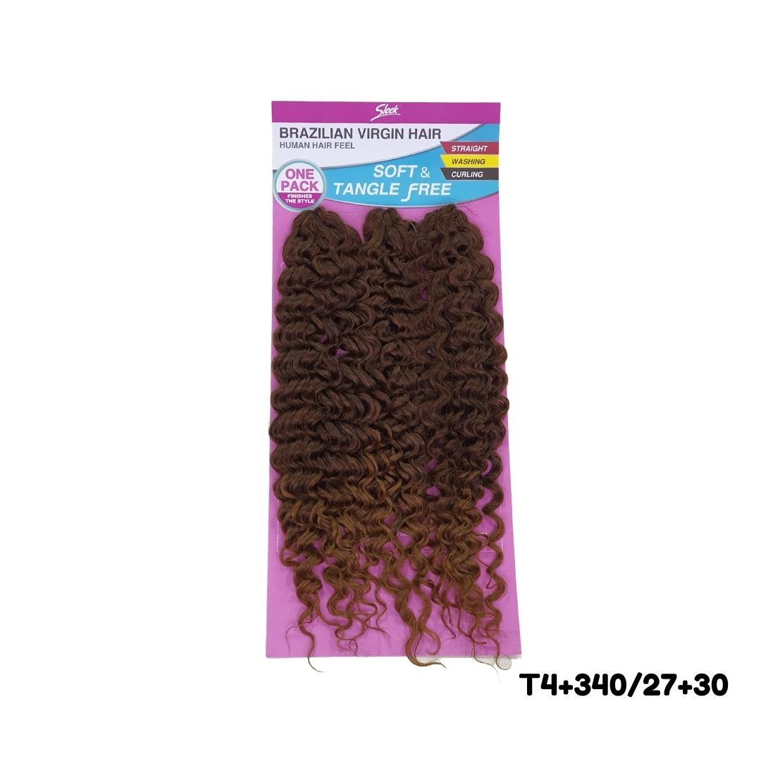 Cabelo Bio Fibra cacheado Caribe  Crochet - Brazilian Virgin hair - Sleek