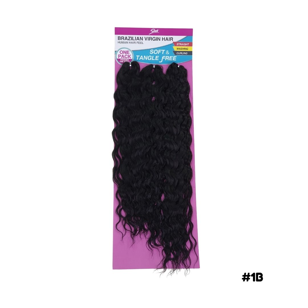 Cabelo Bio Fibra Ondulado Poli  Crochet - Brazilian Virgin hair - Sleek