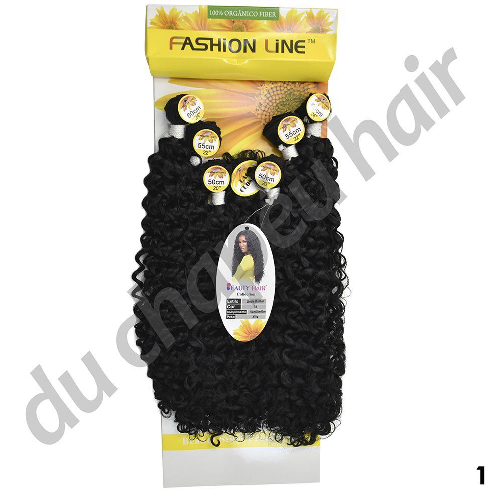 Cabelo fibra orgânica -fashion line-Linda mulher