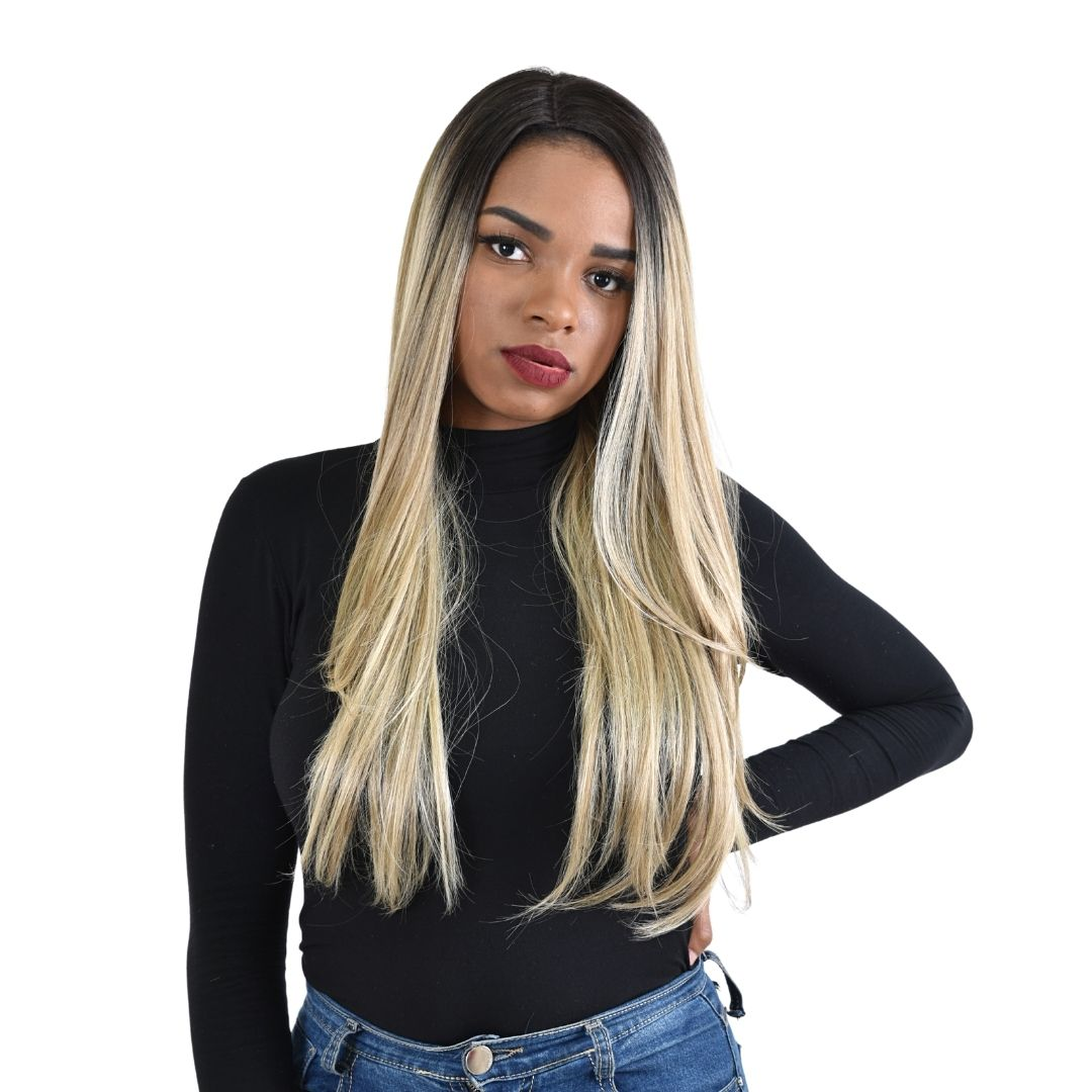 Peruca Sleek Front Lace- Realeza Novo