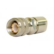 CONECTOR IEC MACHO RETO 0,6X3,7 SOLDA