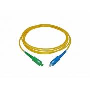 CORDAO OPTICO SC/UPC-SC/APC SX SM 3MM 1,5MT