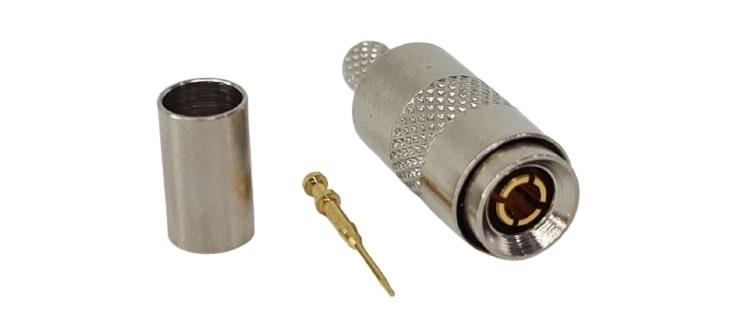 CONECTOR MICRO COAXIAL MACHO RETO 0,4X2,5 CRIMP