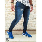 Calça Austin Skinny Destroyed Blue Deluxe