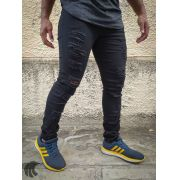 Calça Austin Skinny Black Destroyed