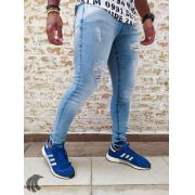 Calça Austin Skinny Blue Destroyed Three