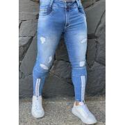 Calça Codi Jeans Skinny Azul Claro Detalhe Ziper