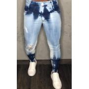 Calça Codi Jeans Skinny Azul Claro Mesclada Detalhe Na Perna
