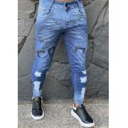Calça Codi Jeans Skinny Azul Detalhe Frontal