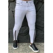 Calça Codi Jeans Skinny Branca Ziper na Perna 1
