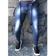 Calça Masculina Codi Skinny Azul Faixa Preta