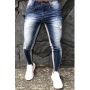 Calça Codi Skinny Azul Jeans Detail Gray