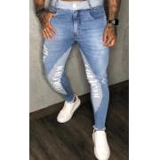 Calça Codi Skinny Azul Jeans Detalhe Faixa