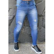 Calça Codi Skinny Azul Jeans Detalhe Lateral