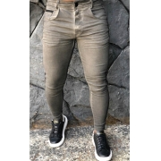 Calça Codi Skinny Cinza Detalhe Faixa