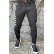 Calça Codi Skinny Preta Jeans Argola