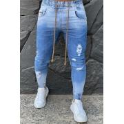 Calça Jogger Codi Jeans Skinny Azul Claro