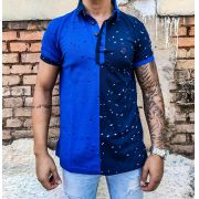 Camisa Black West Polo Azul Deluxe