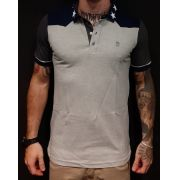 Camisa Black West Polo Grey Star