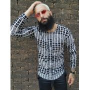 Camisa Manga Longa Exalt Black Checkered