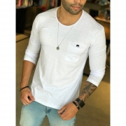 Camisa Manga Longa M Artt Branca Bolso