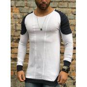 Camisa Manga Longa M Artt Branca Detalhes Ombro